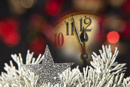 Neujahr Uhr Standard-Bild - 10600894
