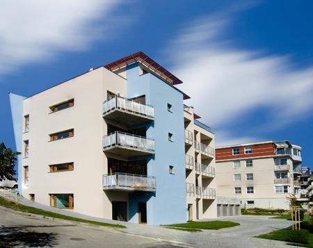 apartmen building Standard-Bild