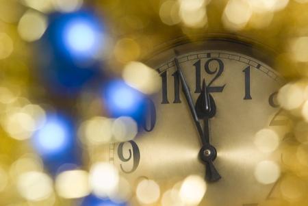new year clock photo