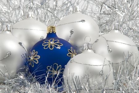'yule tide': christmas balls Stock Photo