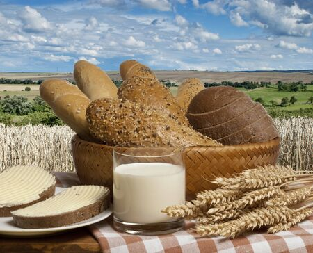 spalt: still life with bread Stock Photo