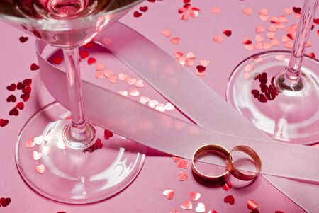 rings and wine photo