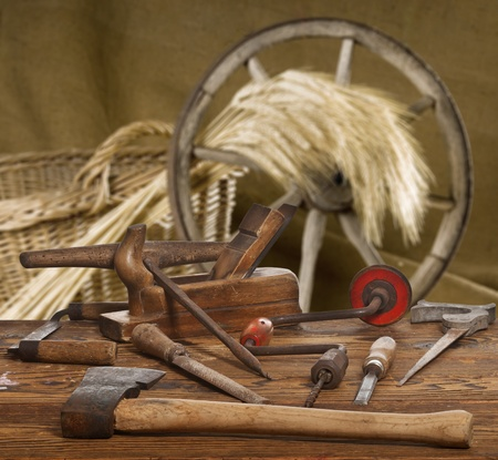wicker work: old tools