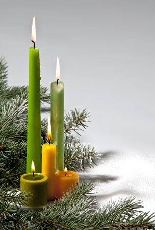 advent time: christmas candles