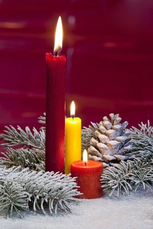 christmas candle Stock Photo - 13895155