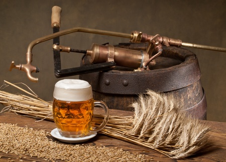 still life with beer photo