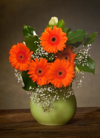 bouquet in vase photo