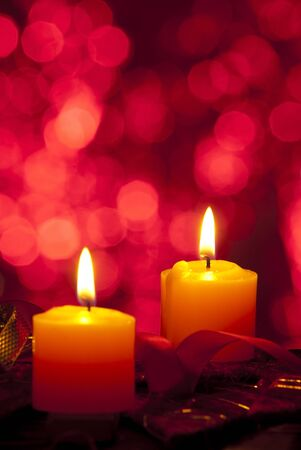 candle: Kerst achtergrond