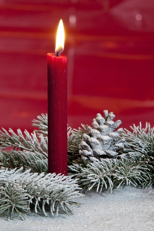 red candle Stock Photo - 14983255