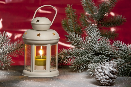christmas lantern 写真素材