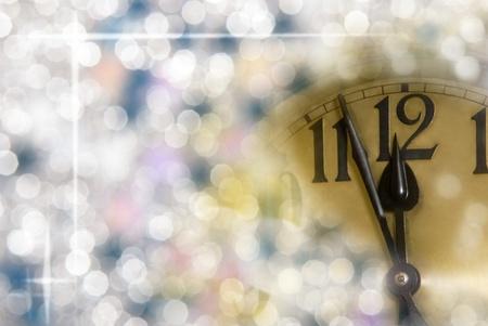 Neues Jahr Uhr Standard-Bild - 15227365
