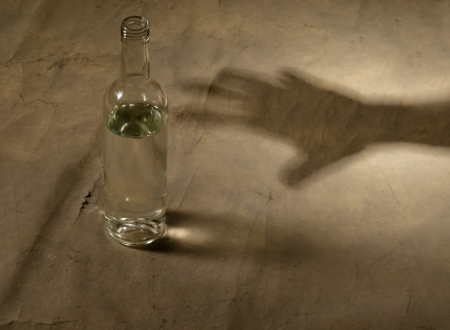 drunkard: alcohol bottle