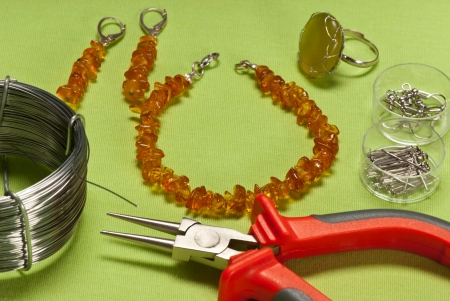amber coloured: fashion jewellery