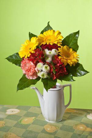 bouquet in the vase photo
