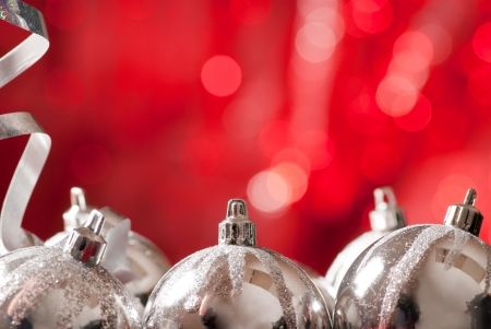 silver reflection: christmas background