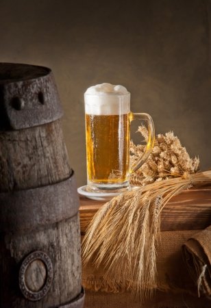 beer barrel: beer Stock Photo