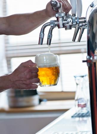 beer tap: beer on tap