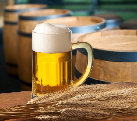 beer barrel: beer on tap