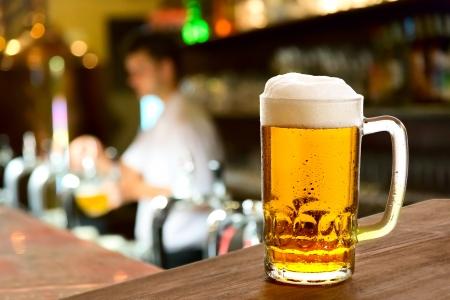 beerhouse: glass of beer in beerhouse