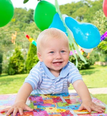 babys  birthday photo
