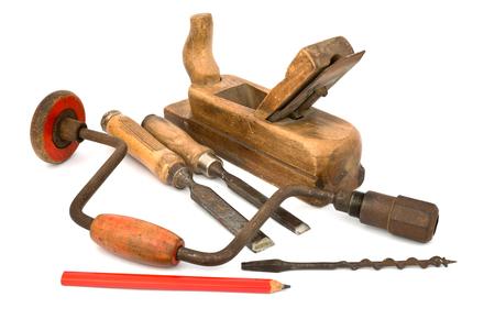 절연 된 오래 된 도구