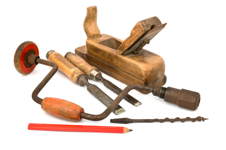 old tools isolated Stock Photo