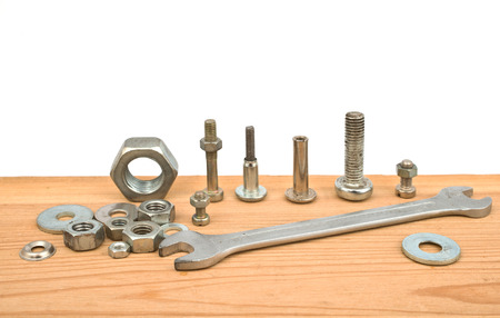 chromium plated: bolts and nuts
