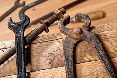 old tools in the workroom photo