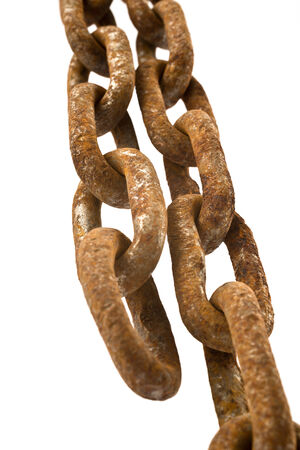 rusty chain: old rusty chain