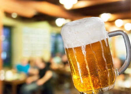 restauration: glass of beer in the pub