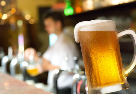alehouse: a glass of beer in the pub Stock Photo