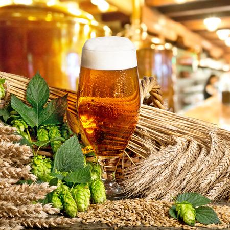 glass of beer Standard-Bild