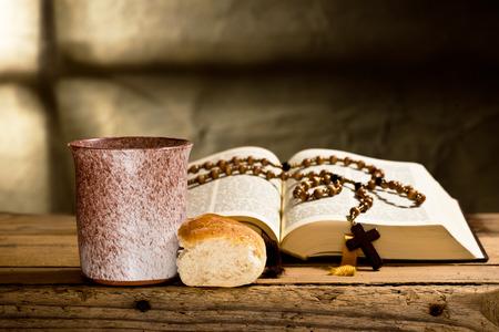 bible and prayer beads