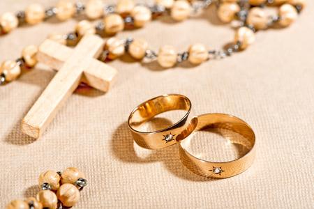 wedding rings aand rosary