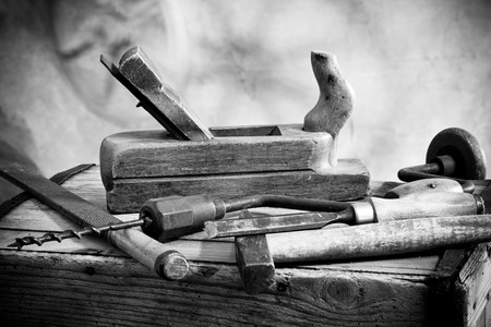 old hammer and carpentry tools