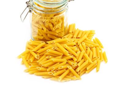 pizzoccheri:  pastas isolated on the white background Stock Photo