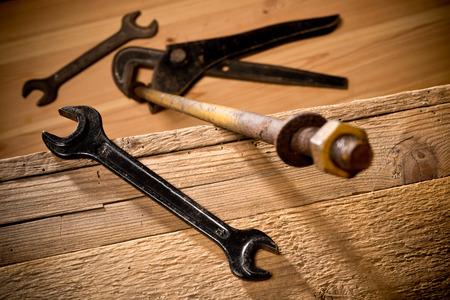 workroom: old tools in the workroom