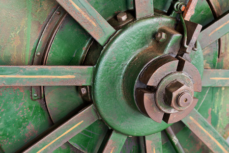 worm gear: a detail of old rusty tractor wheel
