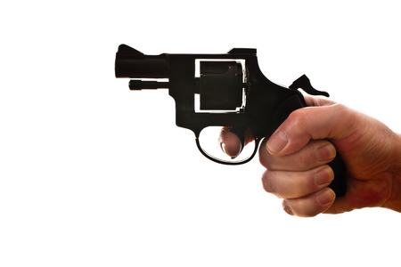 handgun on the white background photo