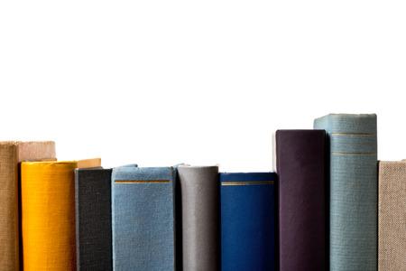 a detail of books in the bookshelf 写真素材