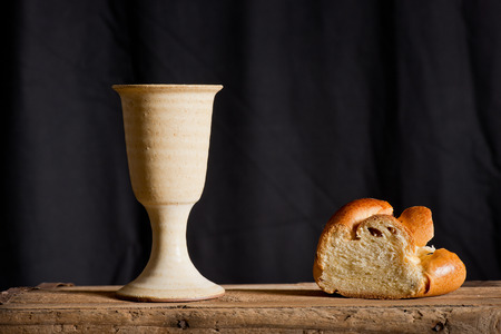 chalice of wine and bread