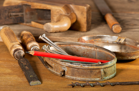 gouge: old tools and nails