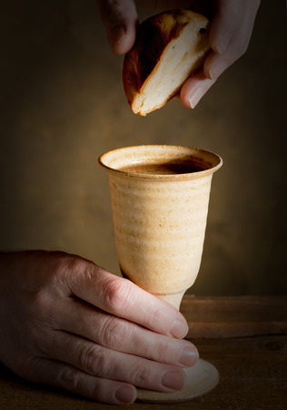 chalice bread: chalice of wine and bread