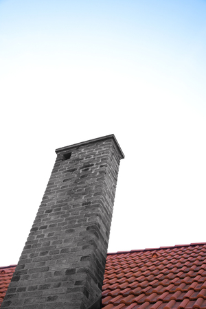 pitched roof: detail of roof with a big chimney