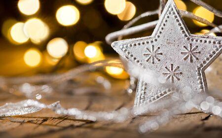 christmas star: Sfondo di Natale con stella di Natale by night
