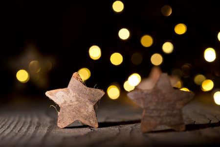 christmas star: Christmas background with cinnamon and christmas star