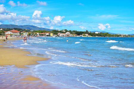 sandbank: Tsilivi Beach in Zakynthos, the third largest of the Ionian Islands, Greece
