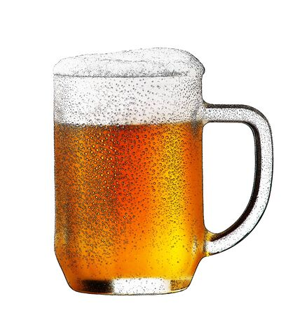 dewy: illustration of beer glass on the white background Stock Photo