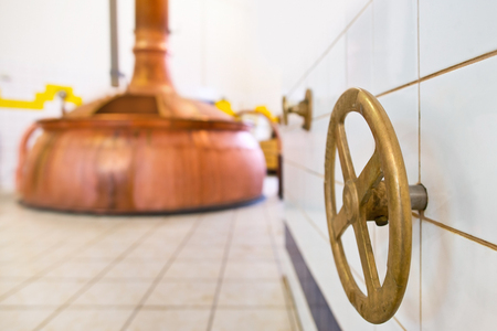 closing: closing valve in the brewery