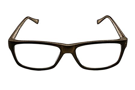 illustratie van de bril op de witte achtergrond